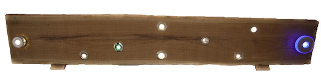Deckenstrahler - Holz mit LED Leuchten